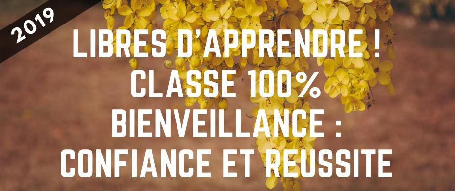 Libres d'apprendre ! Classe 100% bienveillance : confiance et réussite