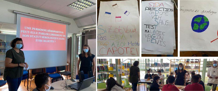 Intervention pour la Journée Mondiale de Lutte contre le Sida à la Réunion avec Célie et Laetitia