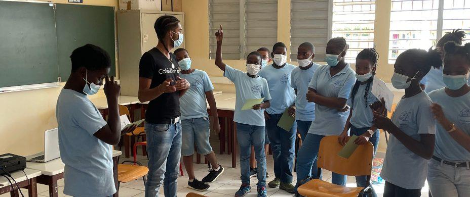 Intervention sur le thème de l'égalité filles/garçons en Guadeloupe avec Diego et Ruben