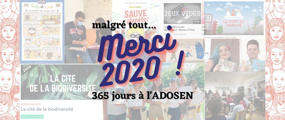 2020 : 365 jours à l'ADOSEN !