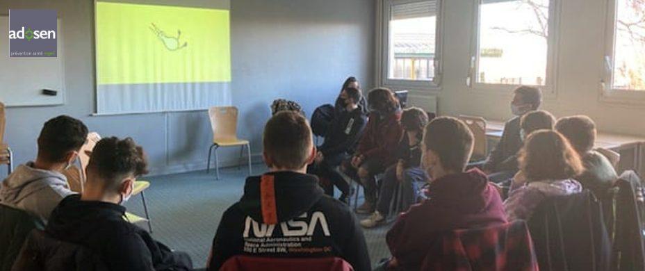 Intervention sur le thème des addictions aux substances en Normandie avec Marion et Pauline