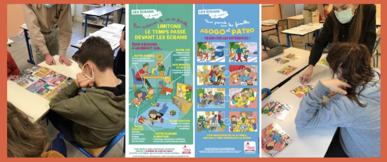 Intervention sur la thématique de l'addiction aux écrans en Normandie avec Eléonore et Lucas
