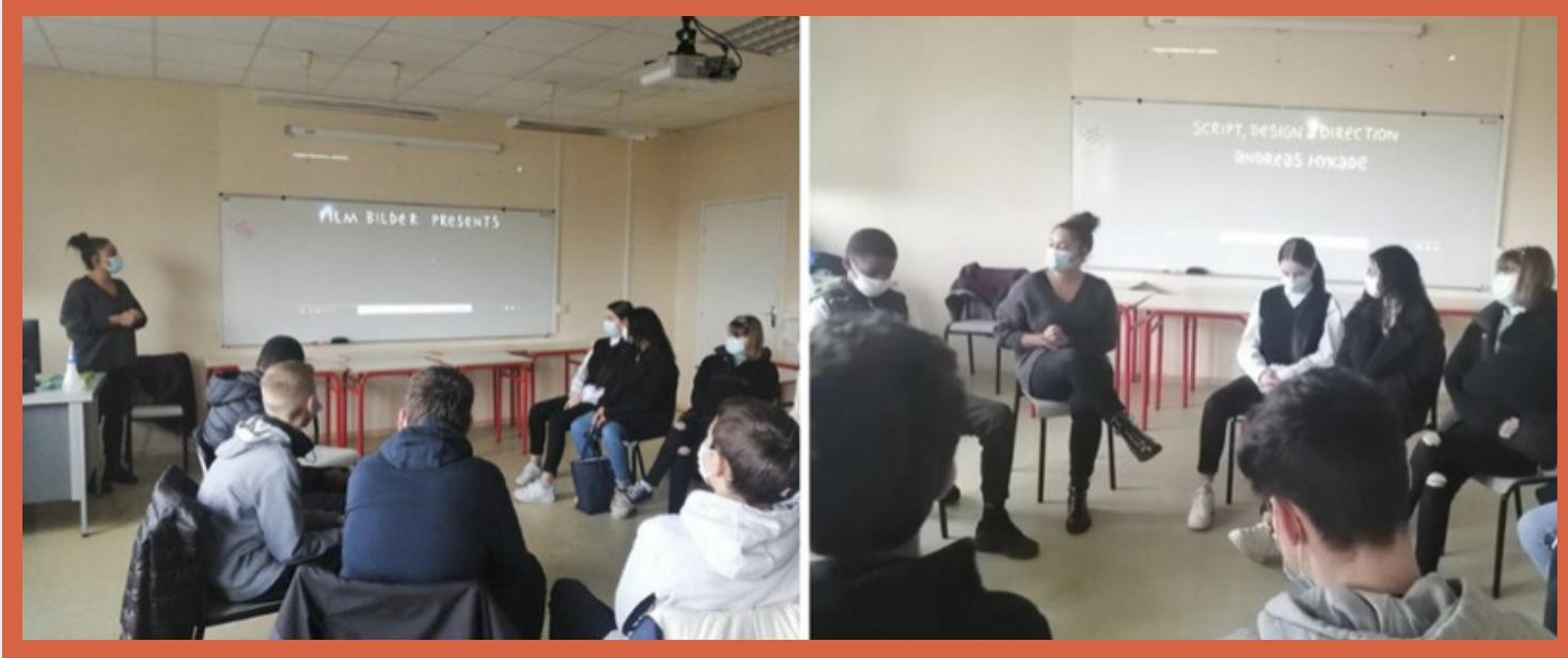 Intervention sur la thématique des addictions au Mans avec Claudia, Mathis et Coralie