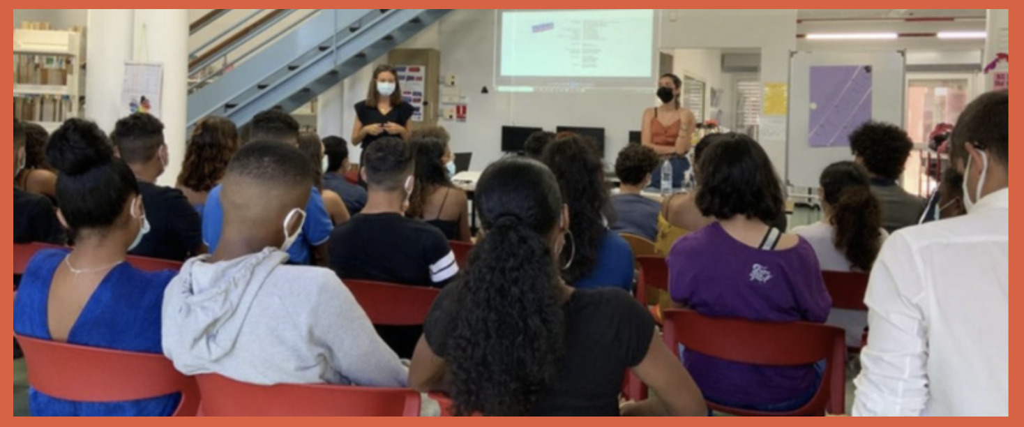 Intervention sur l'égalité fille-garçon à la Réunion avec Célie et Mathilde